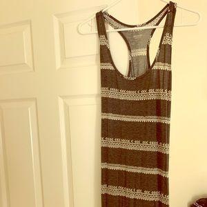 Grey white maxi dress
